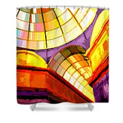 Abstract Cathedral Color Wheel Shower Curtain