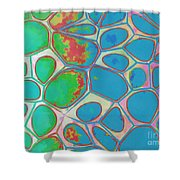 Abstract Cells 4 Shower Curtain