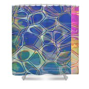 Abstract Cells 6 Shower Curtain