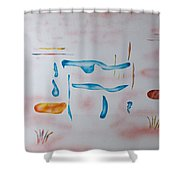 Abstract Character Shower Curtain