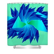 Abstract Chill Shower Curtain