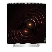Abstract Chromeart Shower Curtain