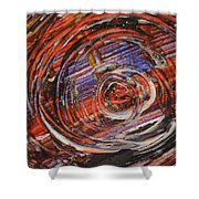Abstract- Circle Shower Curtain
