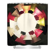 Abstract Circles Shower Curtain