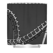 Abstract Coaster Panoramic Shower Curtain
