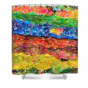 Abstract Color Combination Series - No 8 Shower Curtain