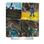 Abstract Color Combination Series - No 9 Shower Curtain