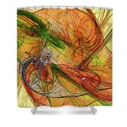 Abstract Color Swirls Shower Curtain