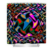 Abstract Colorful Art Exploded View Of Whirlwind At Its Builds On Dry Leaves Shower Curtain