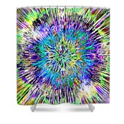 Abstract Colorful Tie Dye Shower Curtain