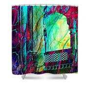 Abstract Colorful Window Balcony Exotic Travel India Rajasthan 1a Shower Curtain