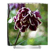 Abstract Columbine Shower Curtain