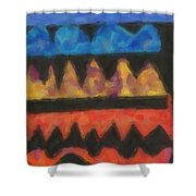Abstract Combination Of Colors No 4 Shower Curtain