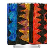 Abstract Combination Of Colors No 5 Shower Curtain