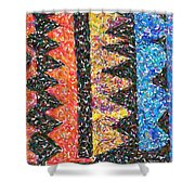 Abstract Combination Of Colors No 6 Shower Curtain