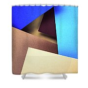 Abstract Composition With Colored Paper Shower Curtain