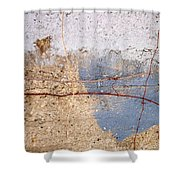 Abstract Concrete 15 Shower Curtain