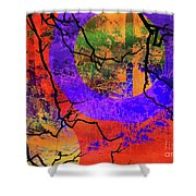Abstract Configuration Shower Curtain