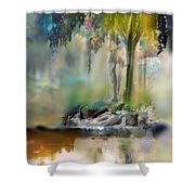 Abstract Contemporary Art Titled Humanity And Natures Gift By Todd Krasovetz  Shower Curtain