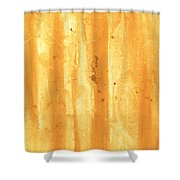 Abstract Contemporary Golden Yellow Painting Vibrant And Bold Yellow Gold By Madart Shower Curtain