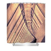 Abstract Corridor Architecture Shower Curtain