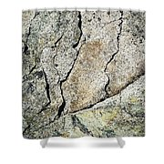 Abstract Cracks On A Granite Block Of Stone Shower Curtain