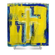 Abstract Crosses Shower Curtain