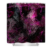 Abstract Crystal - Cg Render Shower Curtain