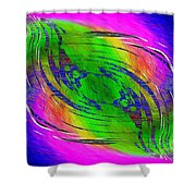 Abstract Cubed 234 Shower Curtain