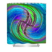 Abstract Cubed 261 Shower Curtain