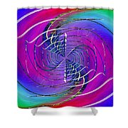 Abstract Cubed 262 Shower Curtain