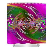 Abstract Cubed 266 Shower Curtain