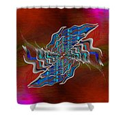 Abstract Cubed 271 Shower Curtain