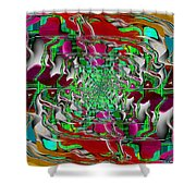 Abstract Cubed 275 Shower Curtain