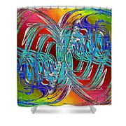 Abstract Cubed 280 Shower Curtain