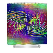 Abstract Cubed 298 Shower Curtain