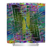 Abstract Cubed 310 Shower Curtain
