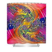 Abstract Cubed 314 Shower Curtain