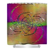 Abstract Cubed 317 Shower Curtain