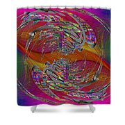 Abstract Cubed 320 Shower Curtain