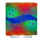Abstract Cubed 328 Shower Curtain