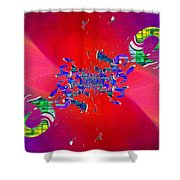 Abstract Cubed 344 Shower Curtain
