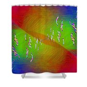 Abstract Cubed 355 Shower Curtain
