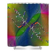 Abstract Cubed 356 Shower Curtain