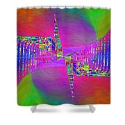 Abstract Cubed 373 Shower Curtain