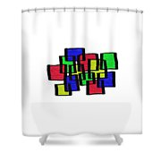 Abstract Cubicles Shower Curtain