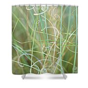 Abstract Curly Grass One Shower Curtain