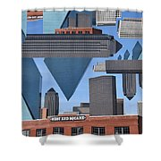 Abstract Dallas Shower Curtain