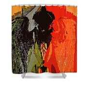 Abstract Dark Angel Shower Curtain