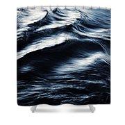Abstract Dark Blurred Ripples Shower Curtain
